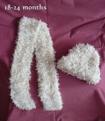 *NEW* Hand Knitted SCARF & BEANIE SET -Suit Girl 18-24 Months - 100% Aussie Made