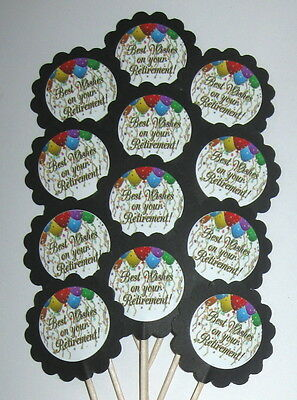 Retirement  Cupcake Toppers/Party Picks  Item #1591