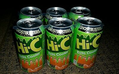 Ecto Cooler color changing Cans 6-Pack Hi-C Ghostbusters Slimer collectable