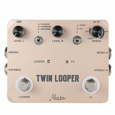 New TWIN LOOPER Guitar Effect Pedal Mono Stereo Input/ Output Sound Recording