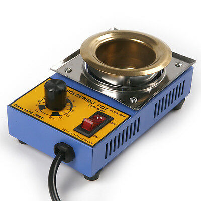 AC 220V 100-500°C Lead Free Soldering Solder Melting Tin Pot 50mm Diameter