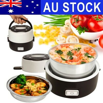 Portable Electric Lunch Box 2 Layer 1.0L Mini Steamer Pot Heating Rice Cooker