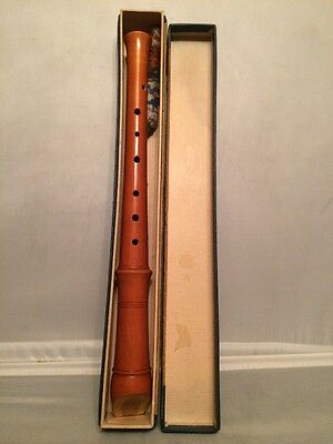 """Vintage Wood """"TONE KING"""" Flute Recorder Germany Made"""