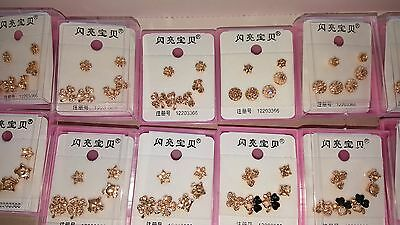 Joblot of 36Pairs Mixed Design Sparkly Diamante stud Earrings-NEW Wholesale lot6