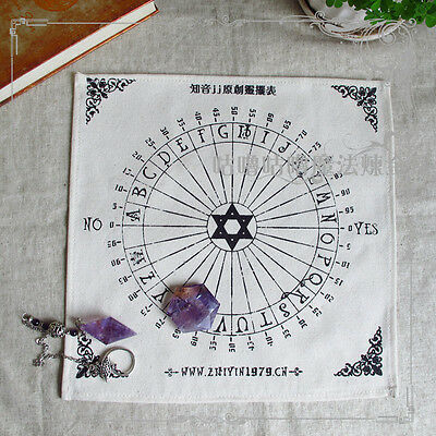 New Black Canvas Table Pendulum Cos Divination Square Pentacle Wicca Tablecloth