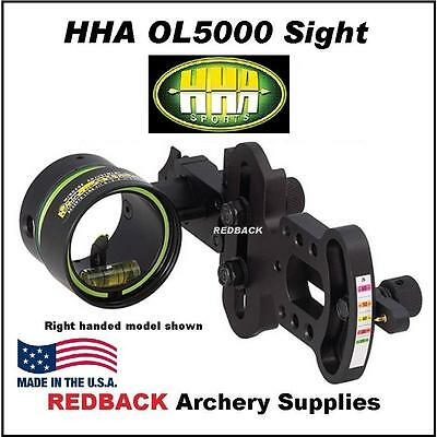 HHA Optimizer Lite OL5000 1 Pin RIGHT HANDED Movable sight for compound bow
