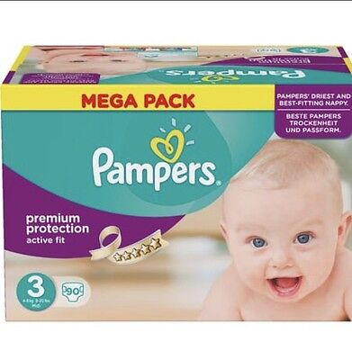 Couches Pampers Active Fit Taille 3 (5-9kg) 90 Couches