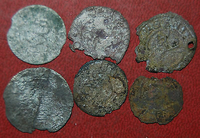 6 medieval silver Livonia solid