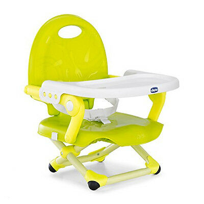 Compact Pocket Snack Booster Seat Portable Highchair Baby Travel Feeding Lime