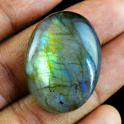 49.25 Cts Natural Oval Shaped Untreated Blue Color Change Labradorite Gemstone