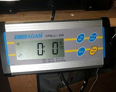 "Adam Equipment CPW plus 200 Bench Shipping Scale 440 X0.1 lb,Brand new,12""X12"""