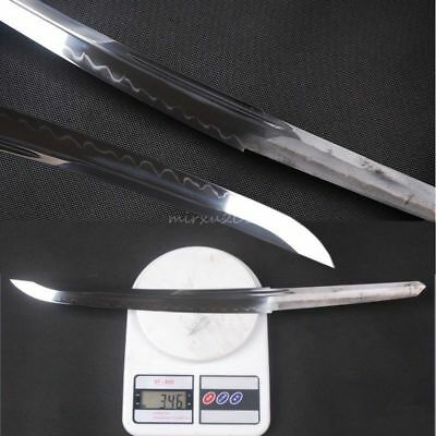 High Carbon 1095 steel Clay Tempered Blade for Japanese samurai Tanto sword