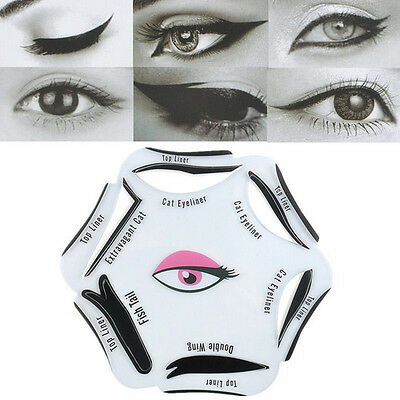 6 In 1 Beauty Makeup Kits Tool Different Type Eyeliner Stencil Cards