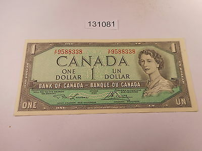 1954 Ottawa One Dollar Currency - Bank of Canada Note - Very Nice - # 131081
