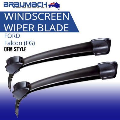 Windscreen Wiper Blades Suit FORD Falcon 2008 - 2012 FG Aero Design PAIR Braumac