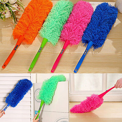 Magic Soft Microfiber Cleaning Duster Dust Cleaner Handle Feather Static Anti UK