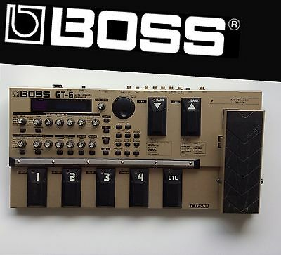 BOSS GT-6 Guitar Effects Processor Wah Pro Solid Roland With Power Supply Manual