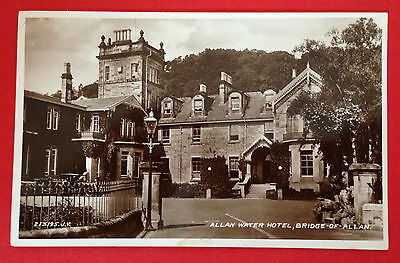 Stirlingshire - Allan Water Hotel Bridge of Allan, RP PC Publ. Valentine, Unused