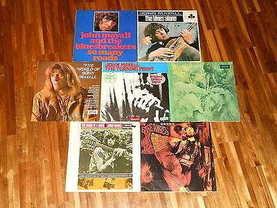John Mayall - SAMMLUNG - 7 LPs - Blues Alone - Bare Wires - Turning Point - u.a.