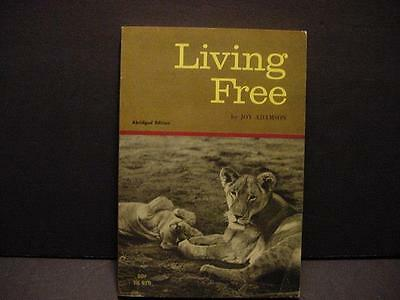 Vintage 1967 Living Free:Elsa the Lion by Joy Adamson Scholastic Pbk. Nonfiction