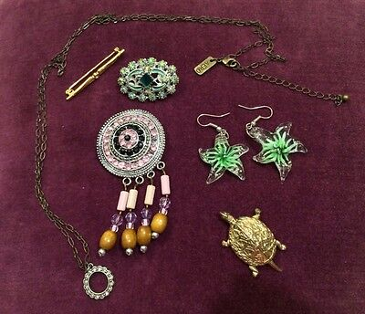 Bulk lot assorted antique and vintage modern jewellery for wear