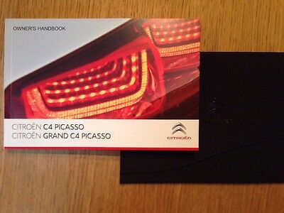 Genuine Citroen C4 Picasso & Grand Picasso Manual Handbook & Case Wallet
