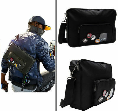 Watch Dogs 2 Marcus Black Shoulder Bag Adult Casual Crossbody Badges Cosplay New