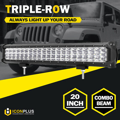 """20inch 882W PHILIPS LED Work Light Bar TRI-ROW Combo Offroad Truck 4x4WD ATV 23"""""""