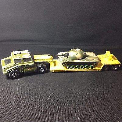 Matchbox Vintage Battle Kings K102 Transporter and K106 Lorry Truck Low Loader