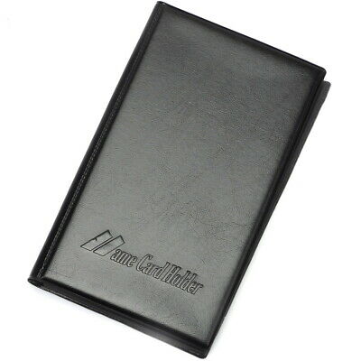 200 Cards Leatherette Business Credit Name Card Holder Keeper Book Black