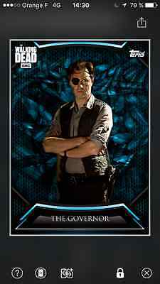 Topps the walking dead Syndicate The governor award + insert