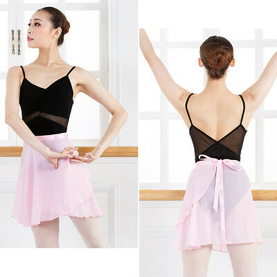 Adult Women Girl Chiffon Ballet Leotard Tutu Wrap Scarf Skirt Dance Dress New