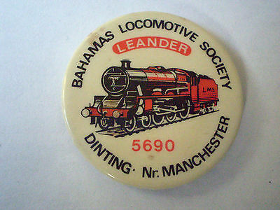 Bahamas Locomotive Society Button Badge