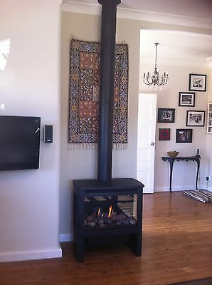 Lopi cypress Freestanding Gas Log Fire Fireplace Heater Sydney Pickup