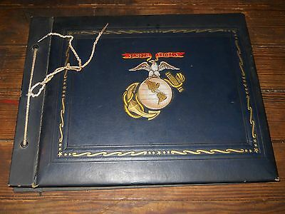 WW2 Marine Photo Album Paris Island Marine Corps Band 1944