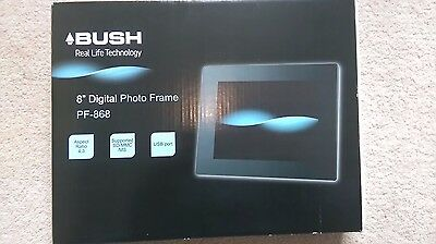 Bush PF-868 8'' Black Digital Photo Frame New