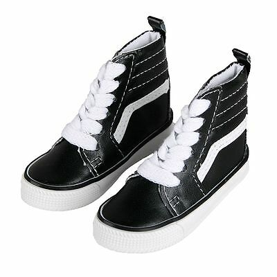[wamami] Black Leather Covering High Shoes/Sneaker For 1/4 MSD DOD BJD Dollfie