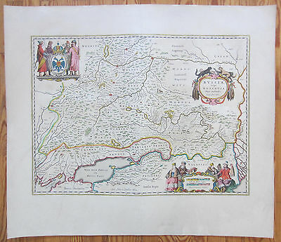 Blaeu Decorative Map Russia Moscow Russiae Moscovia australis- 1640