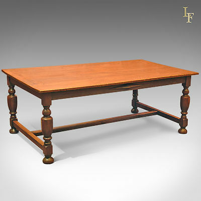 Antique Large Country Kitchen Table, Oak Dining, 8-10 Seater, Victorian c.1900