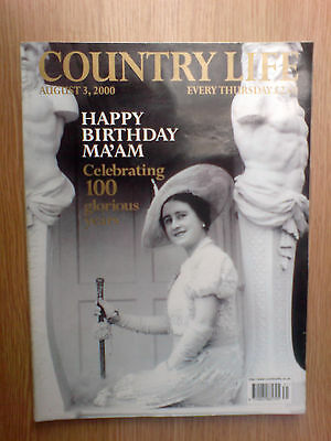 country life magazine august 3rd 2000, celebrating queen mothers 100th birthday