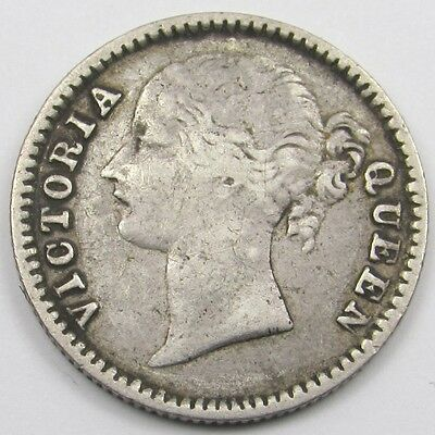 INDIA - EAST INDIA COMPANY -  QUEEN VICTORIA  1/4 RUPEE SILVER COIN dated 1840