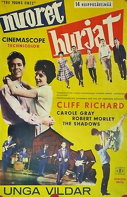 "CLIFF RICHARD ""The Young Ones"" (1961) very rare original poster from Finland"