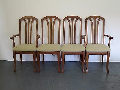 Set of Four Modern Teak Dining Chairs from Nathan Furniture