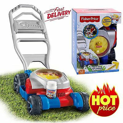 Fisher-Price Bubble Mower Kids Toy Outdoor Lawn Garden Pretend Push Play Gift