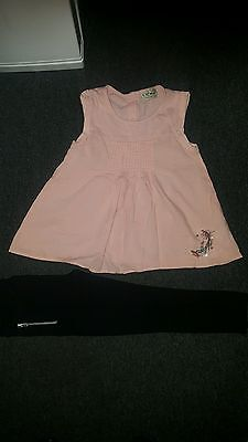 beautiful girls Next top and F&F leggings outfit age 3-4 years