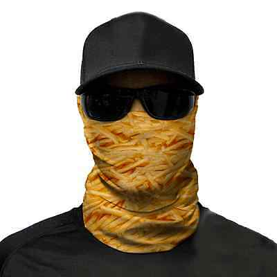 French Fries Face Shield- Bandana Neck Scarf Headwear UV protection Fishing