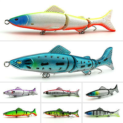 Fishing Lures Minnow Swimbait Bass Bait Crankbait Assorted Tackle Hooks Lot 8PCS