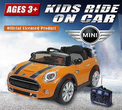 Kids Electric Ride on Car MINI COOPER Children With Remote- Officially Licensed