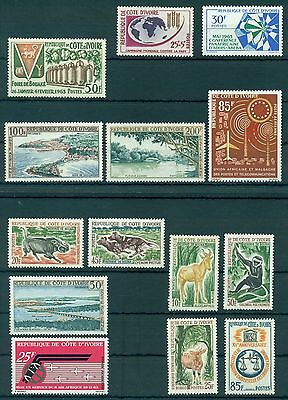 IVORY COAST * YEAR 1963 COMPLETE*(14 stamps&1 M/Sheet)* MNH** Mi.No 245-258,BL2