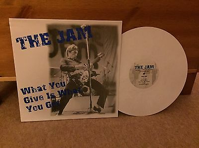 The Jam - What You Give Is What You Get Live Lp White Vinyl Rare - Paul Weller